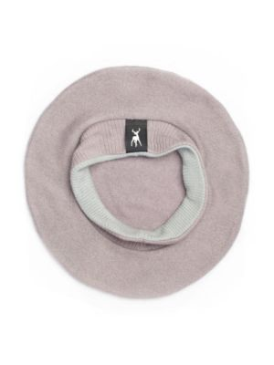Military Beret in mauve cashmere