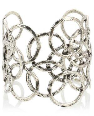 Manchette anneaux argentée Olympie