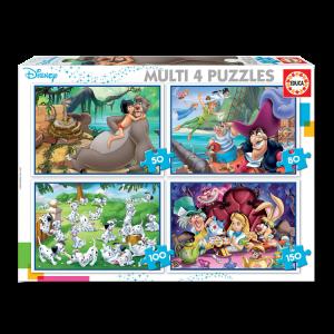 Puzzle 4 en 1 Disney Classics 50/80/100/150 pcs