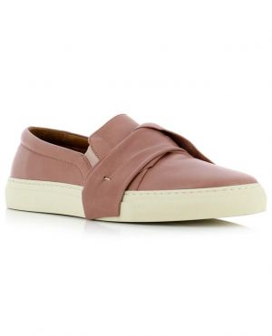 Baskets slip on en cuir