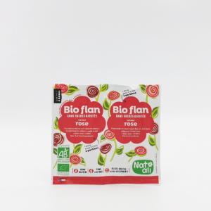 Poudre bio-flan dessert rose