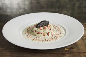 Moelleux de pomme de terre au homard et caviar Prunier Tradition (pour 2 personnes)