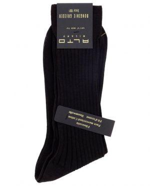 Chaussettes courtes fines en maille côtelée Filoscozia