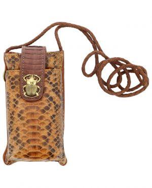 Étui à téléphone en cuir de python Double Marcus