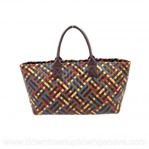 Bottega Veneta PM cabat in intrecciato nappa multicoloured