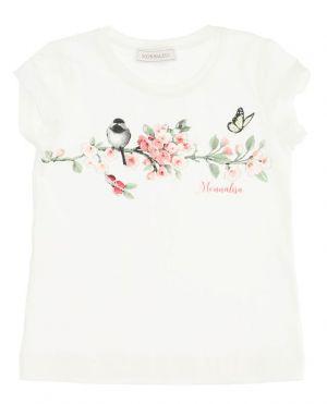 T-shirt imprimé en coton fille