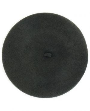 Béret en feutre de laine avec bouton bijou