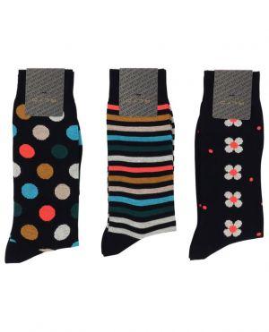 Coffret cadeau chaussettes en coton mélangé