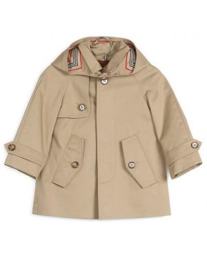 Trench-coat en coton doublé