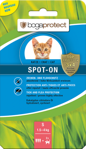 Bogaprotect Spot-On antiparasitaire Pour chat