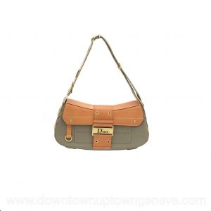 Dior Street Chic vintage bag in green canvas with small pockets