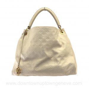 Louis Vuitton Artsy MM bag in ivory monogram empreinte