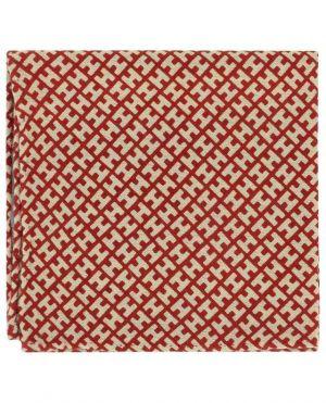 Pochette monogrammée en cachemire et soie
