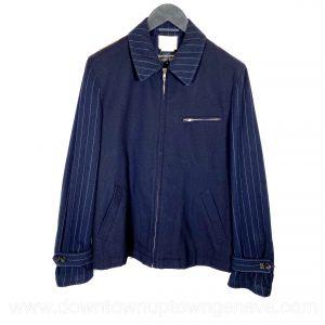 Comme Des Garçons jacket in blue flanelle with stripes
