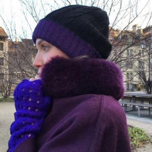 Bonnet violet & Noir
