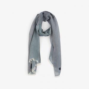 Foulard bleu marine Barbarian en voile de coton