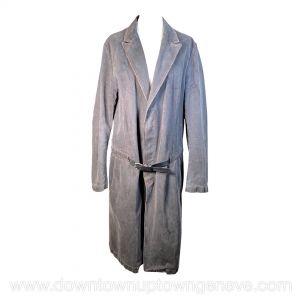 Alexander McQueen vintage coat in grey denim