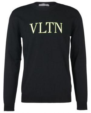 Pull fin à col rond VLTN neon intarsia