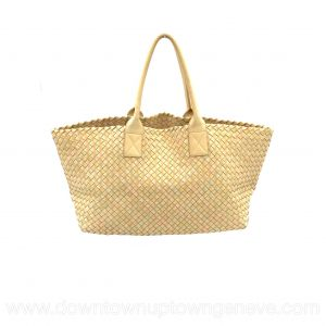 Bottega Veneta PM cabat in intrecciato nappa pastel yellow, pink, green