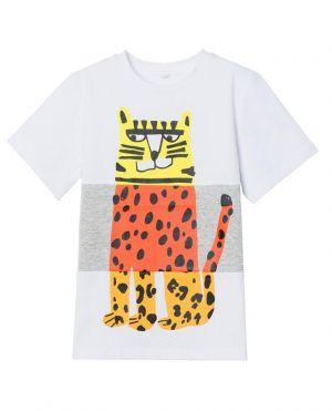 T-shirt garçon en coton bio imprimé Tiger