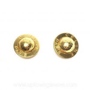 Céline vintage clip earrings in gold-tone with stars