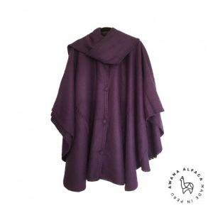 Cape Violette avec écharpe