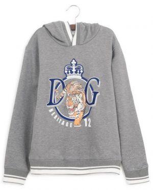 Sweat-shirt à capuche imprimé tigre DG Heritage 12