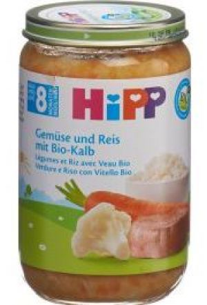 HIPP PUREE CAROTTE, MAIS & VEAU BIO