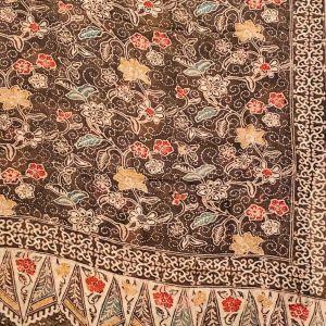 Foulard batik sur soie