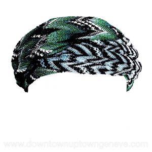 Missoni headband in green, multicoloured sparkly viscose
