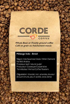 Inde/Rwanda mélange Corde Coffee