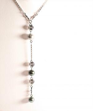 Collier perle de Tahiti et brillants