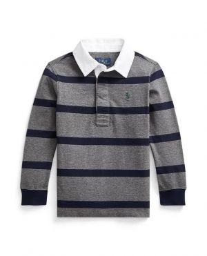 T-shirt de rugby enfant en jersey rayé