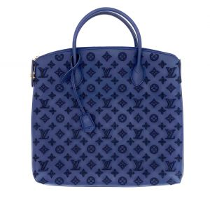 Louis Vuitton Lockit L.E tote bag in navy rubber & LV embroidery