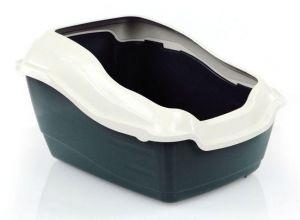 caisse pour chats Levento avec bord