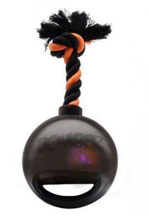 BOMBERjouet noir pour chiens LED