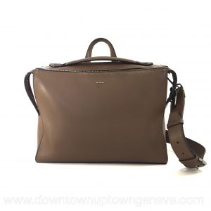 Fendi messenger bag in brown smooth leather