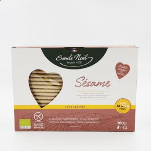 Tartines bio craquantes à la farine de sésame