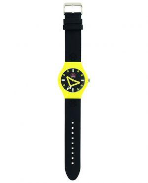 Montre avec bracelet en silicone noir London