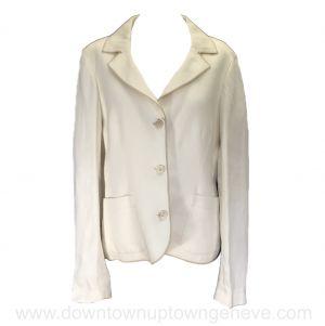 Loro Piana jacket in cream linen