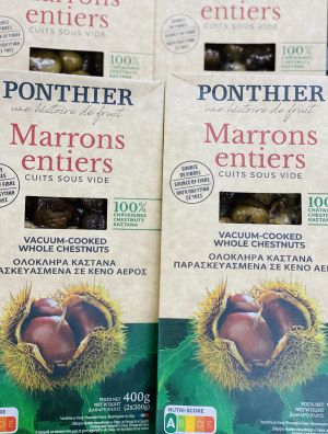 Marrons entiers cuits