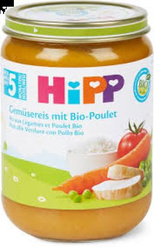 HIPP PUREE RIZ AUX LEGUMES ET POULET