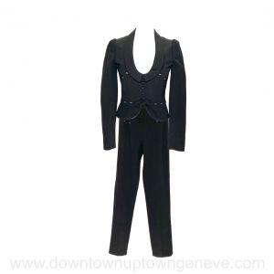 La Perla pant suit in black wool silk blend