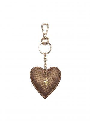 Fish Leather Heart Keyring
