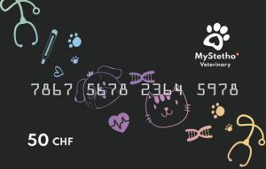 Bon de 50 CHF cabinet vétérinaire MyStetho Veterinary