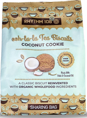 8 X RHYTHM 108 Tea Biscuits COCONUT COOKIE 135g