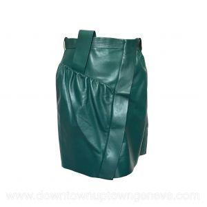 Louis Vuitton miniskirt in teal green leather