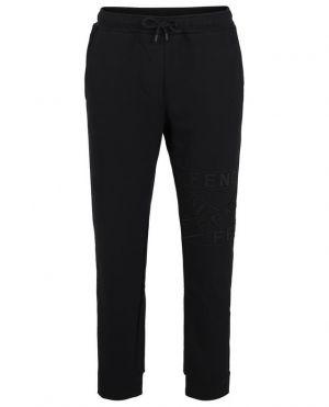 Pantalon de jogging en coton mélangé logo