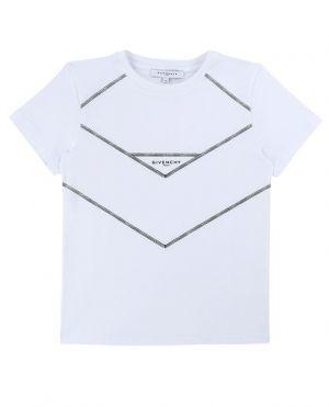 T-shirt en coton logo et fausses coutures