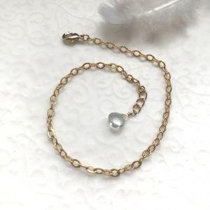 Bracelet chance et aigue marine
